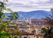 Florence, along the Arno River, in the Tuscany region of Italy. poster