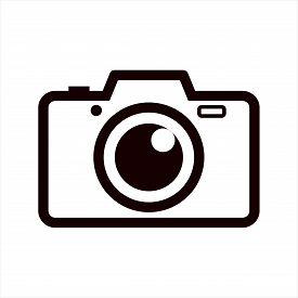 Photo Pamera Icon On White Background, Photo Camera Icon Eps10, Photo Camera Icon Vector, Photo Came