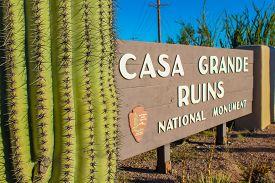 Casa Grande Ruins National Monument In Arizona - November 3, 2018