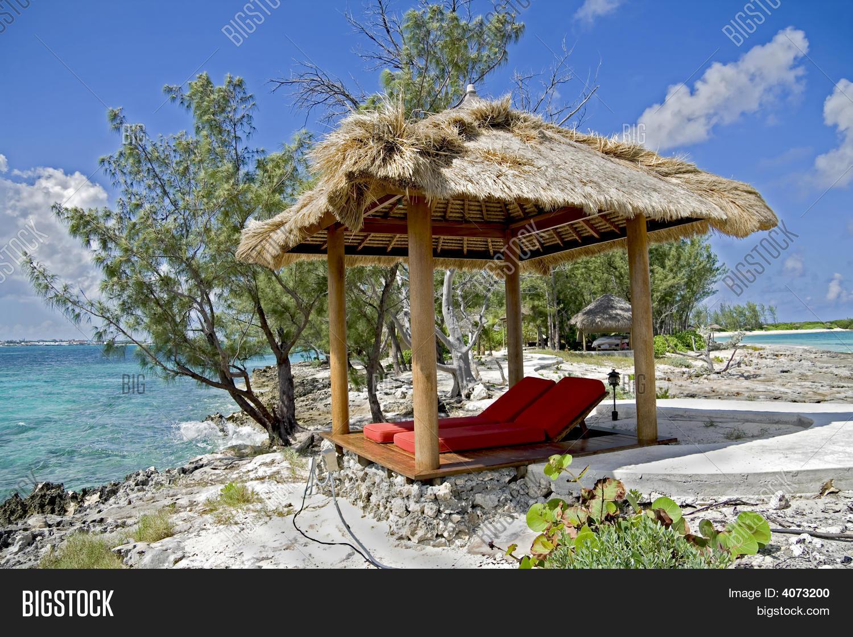 Tropical Beach Huts: Beach Hut On Tropical Island Image & Photo