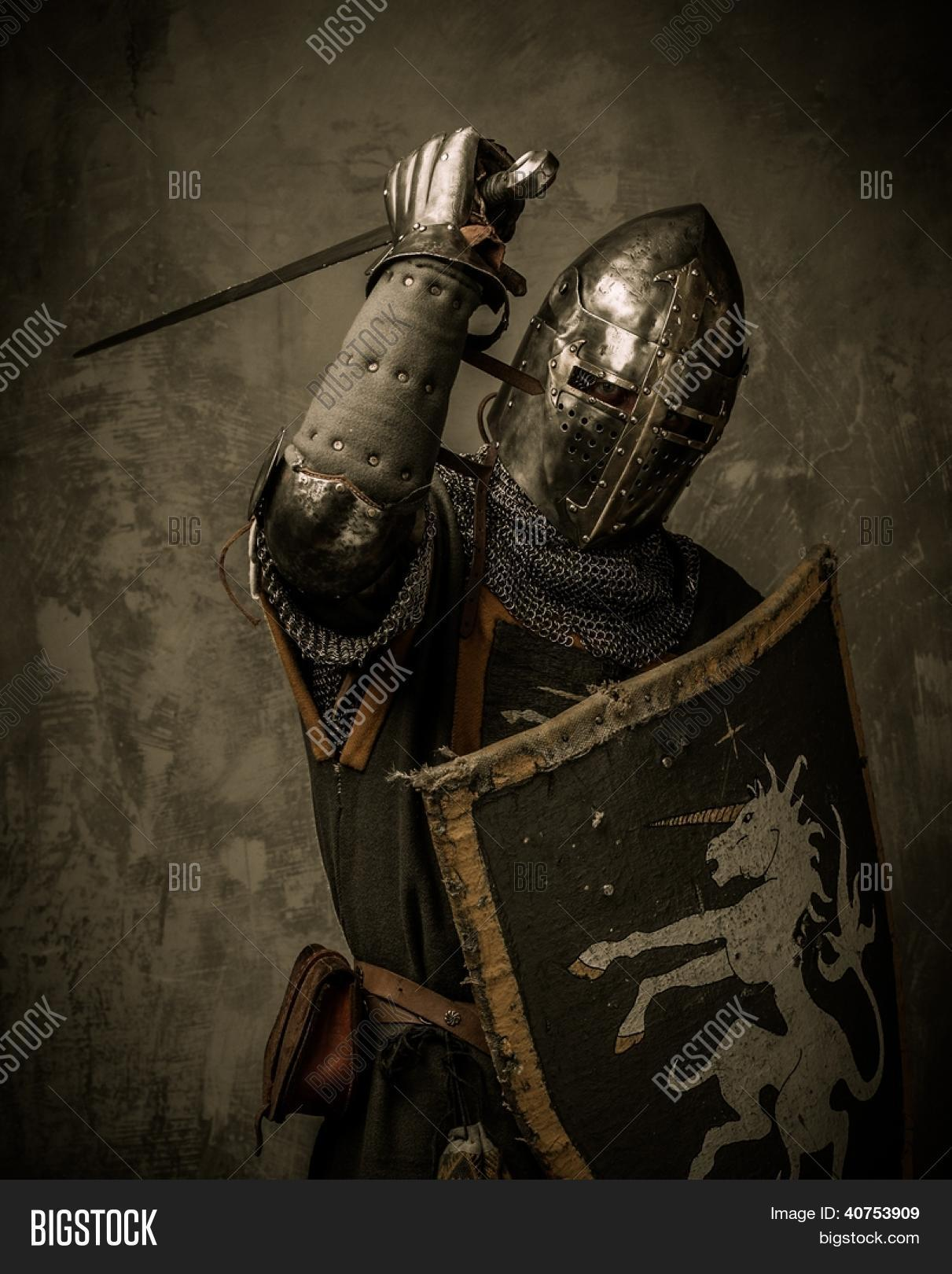 Medieval Knight Sword Shield Image & Photo | Bigstock