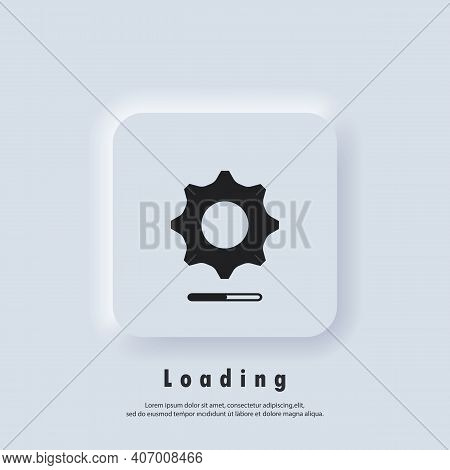 Loading And Gear Icon. Loading Process. Progress Bar Icon. System Software Update. Update System Ico