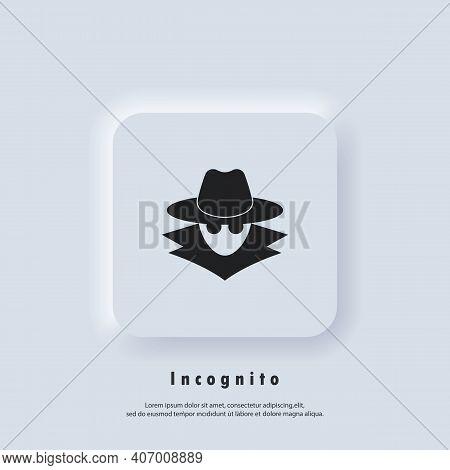 Incognito Icon. Incognito Logo. Browse In Private. Spy Agent, Secret Agent, Hacker. Vector. Ui Icon.