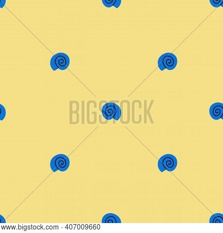 Simple Shaped Vector Seashell Seamless Pattern. Bright Colorfull Sample For Your Design. Good For Te