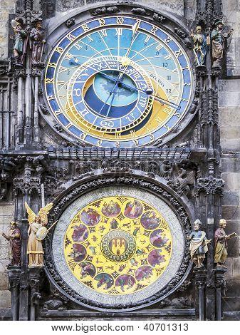 Clock Of Cityhall Prague