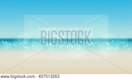 Trendy Design For Sale, Social Media, Web.ocean Waves Nature Background Illustration, Sea Waves , Su