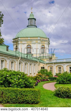 St. Petersburg, Russia - August 11, 2018: Sightseeing Of St. Petersburg. Grand Menshikov Palace In O