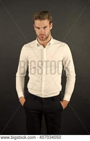Formal Fashion. Professional Occupation. Financial Consultant. White Collar Worker. Menswear Formal