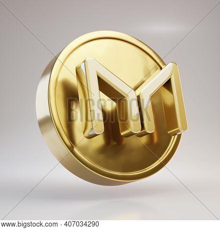 Venus Icon. Fortuna Gold Venus Symbol With Tidewater Green Background. Social Media Icon.