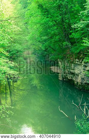 A View Of The Bigar River, Natural Reserve In The Anina Mountains