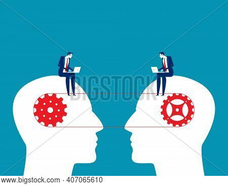Connected Mind Mechanisms Of The People. Collaboration And Synergy