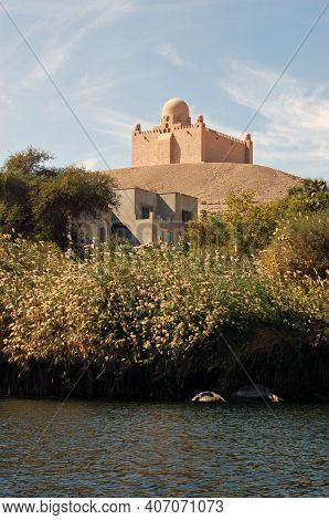 A View From The River Nile Of The Mausoleum Of Mohammed Shah Aga Khan, The 48th Imam Of The Ismaili