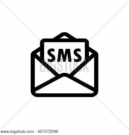 Sms Icon. Dialog, Chat, New Message. Open Envelope. Vector Eps 10. Isolated On White Background.