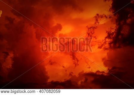 Fantastic Concept Mystical Horror Background From Another Planet From The Paranormal World, Fantasy