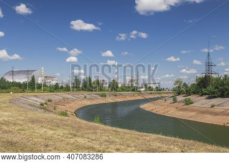 Cooling Channel Of The Chernobyl Nuclear Power Plant Which Gradually Dries Up