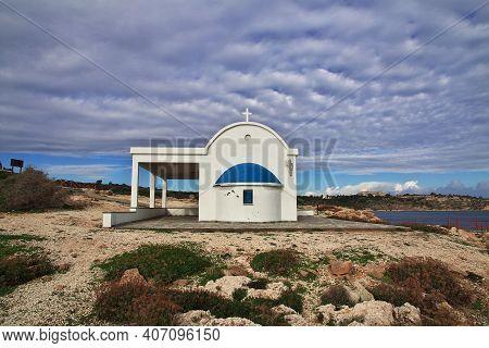 The Small Church On Cape Greco, Cyprus