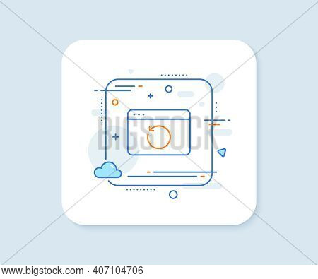 Recovery Internet Line Icon. Abstract Square Vector Button. Backup Data Sign. Restore Information Sy