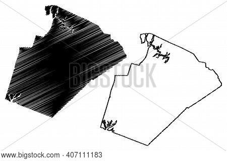 Wake County, North Carolina State (u.s. County, United States Of America, Usa, U.s., Us) Map Vector