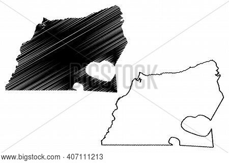 Washington County, North Carolina State (u.s. County, United States Of America, Usa, U.s., Us) Map V