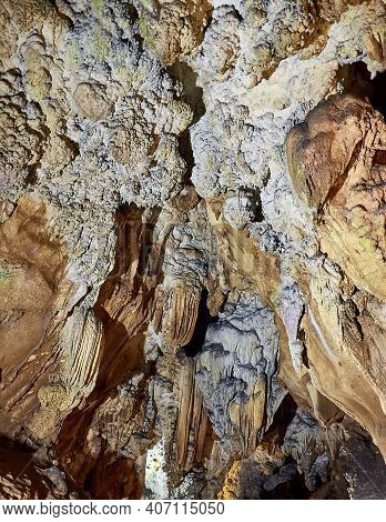 Amazing Cave Formation. Stalactites At Chiang Dao Cave. Chiang Dao National Park. Chiang Mai Provinc