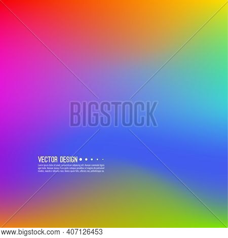 Vector Abstract Rainbow Blur Background. Gradient Mesh Illustration.