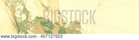 Fluid Art. Marble Abstract Background. Alcohol Ink Paint. Liquid Texture. Fluid Art. Gradient Wave W