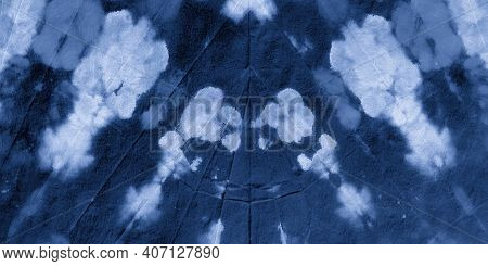 Abstract Watercolour Stains. Indigo Denim Dyed Pattern. Handmade Wallpaper. Watercolour Abstract Wat