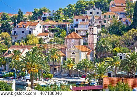 Village Of Splitska On Brac Island Landmarks View, Dalmatia Archipelago Of Croatia