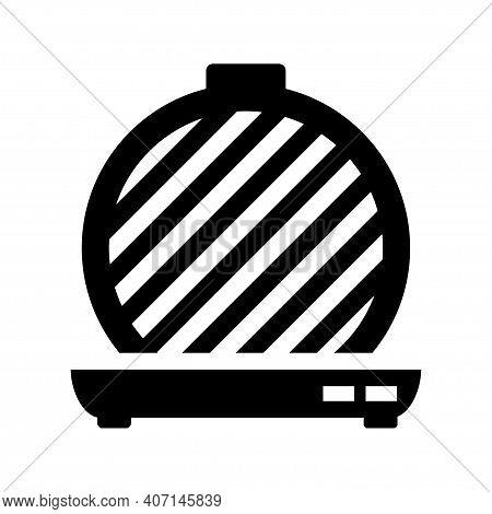 Waffle-iron Icon. Belgian Simple Waffle-iron Vector Icon For Web Design On White Background