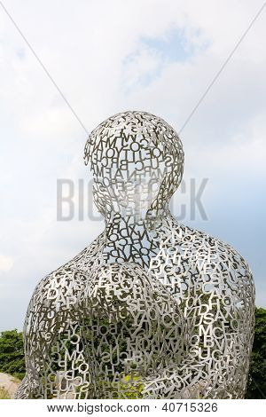 Kiev, Ukraine - Jun 04: Sculpture Body Of Knowledge From Jaume Plensa On June 04, 2012 In Kiev, Ukra