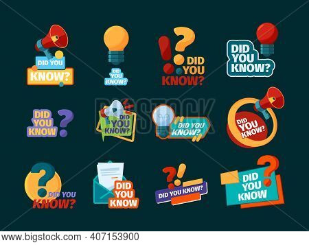 Do You Know. Typography Design With Promotional Advertising Phrase Speech Bubbles With Megaphone Sym