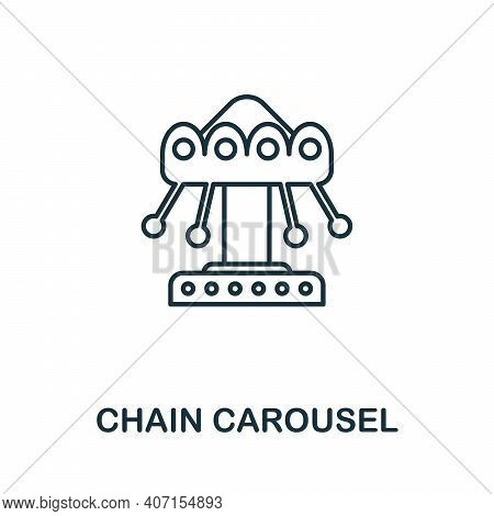 Chain Carousel Icon. Simple Element From Amusement Park Collection. Creative Chain Carousel Icon For
