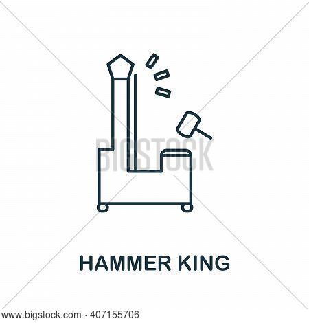 Hammer King Icon. Simple Element From Amusement Park Collection. Creative Hammer King Icon For Web D