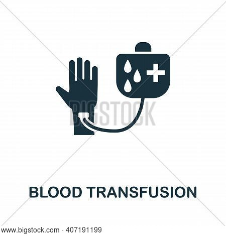 Blood Transfusion Icon. Simple Element From Medical Services Collection. Filled Monochrome Blood Tra