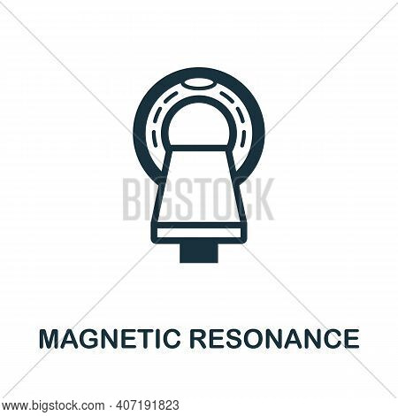 Magnetic Resonance Icon. Simple Element From Medical Services Collection. Filled Monochrome Magnetic