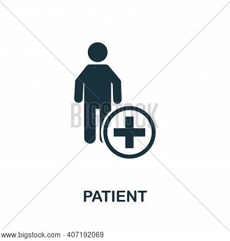 Patient Icon. Simple Element From Medical Services Collection. Filled Monochrome Patient Icon For Te