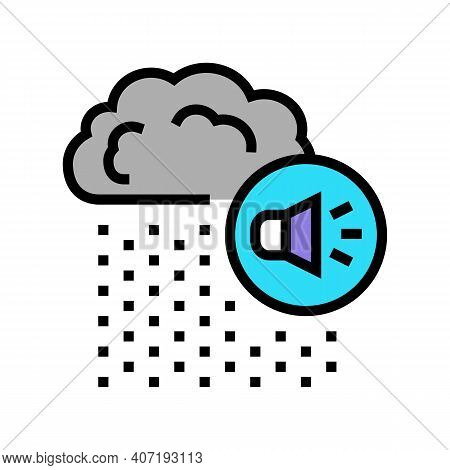 Rain Noise Color Icon Vector. Rain Noise Sign. Isolated Symbol Illustration