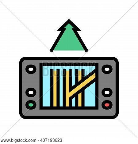 Gps Navigation Device Color Icon Vector. Gps Navigation Device Sign. Isolated Symbol Illustration