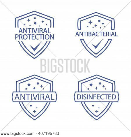 Immune Guard. Antimicrobial Resistant Badges. Coronavirus Protection Shield. Antibacterial Protectio
