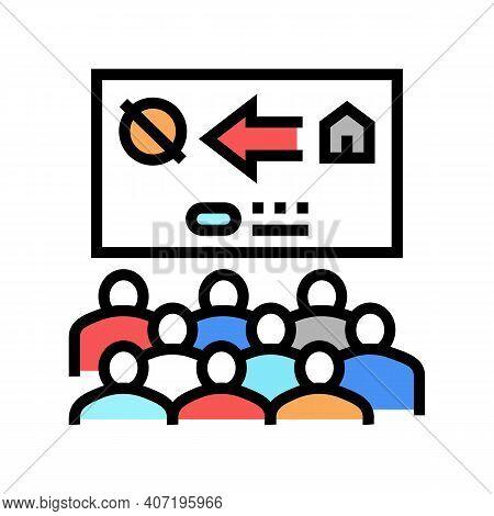 Colonization Presentation Meeting Color Icon Vector. Colonization Presentation Meeting Sign. Isolate