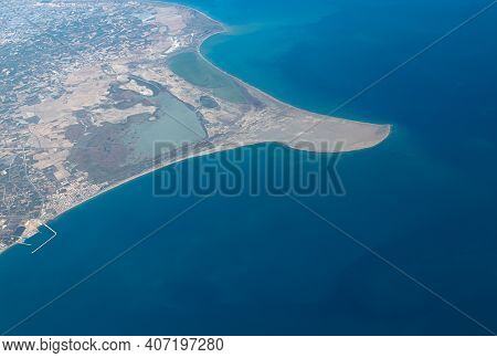 The View From The Height Of Sandbar On The Southern Coast Of Turkey