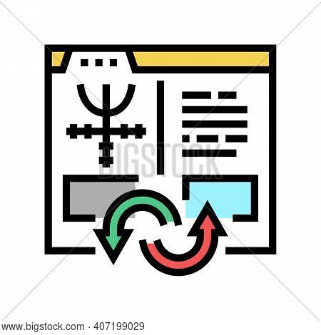 Index To Information Converter Color Icon Vector. Index To Information Converter Sign. Isolated Symb