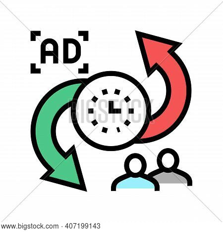 Advertise To Buyers Clients Converter Color Icon Vector. Advertise To Buyers Clients Converter Sign.