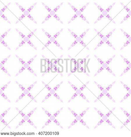 Watercolor Ikat Repeating Tile Border. Purple