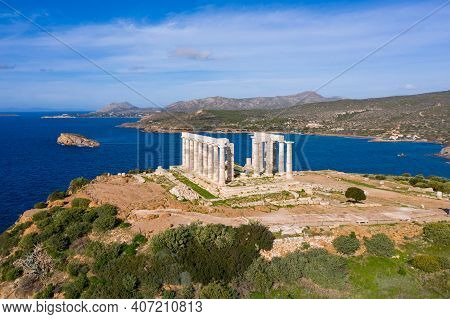 Cape Sounio, Poseidon Temple Archaeological Site, Attica, Greece