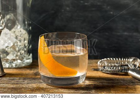 Boozy Moonshine Old Fashioned Cocktail
