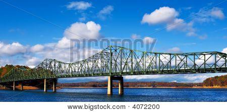 Metal Bridge In The Fall