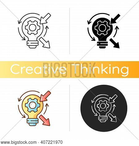 Reflection Icon. High Skill Thinking And Analysing. Creative Critical Thinking. Proffesional Argumen