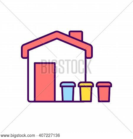 Waste Sorting Rgb Color Icon. Segregating Waste For Proper Removal. Keeping Carts Clean And Odor Fre