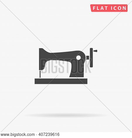 Sewing Machine Flat Vector Icon. Hand Drawn Style Design Illustrations.